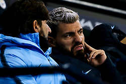 Sergio Aguero of Manchester City takes his place on the bench - Mandatory by-line: Robbie Stephenson/JMP - 14/01/2019 - FOOTBALL - Etihad Stadium - Manchester, England - Manchester City v Wolverhampton Wanderers - Premier League