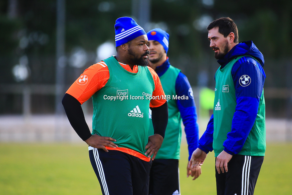 Mathieu Bastareaud - 27.01.2015 - Entrainement XV de France - Canet en Rousillon -<br />