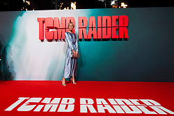Caroline Weinberg attends the Tomb Raider European Premiere at the Vue West End, London.  Picture date: Tuesday 6th March 2018.  Photo credit should read:  David Jensen/ EMPICS Entertainment