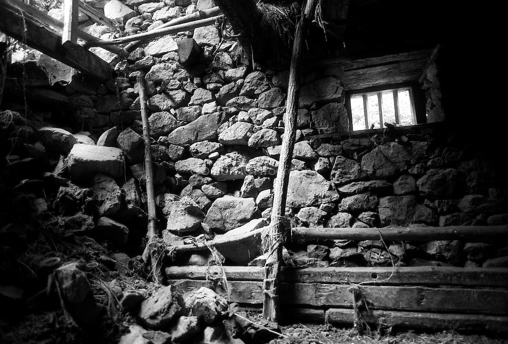The barn of my father before its refurbishment, Ayet, Ariege, France.
