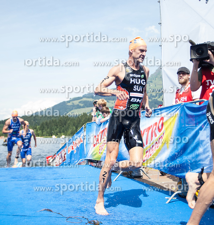 24.06.2012, Schwarzsee, Kitzbuehel, AUT, ITU World Championship, Dextro Energy Triathlon Kitzbuehel, Elite Herren, im Bild Reto Hug (SUI) // Reto Hug (SUI) during Elite Men of ITU World Championship Dextro Energy Triathlon Kitzbuehel, Austria on 2012/06/24. EXPA Pictures © 2012, PhotoCredit: EXPA/ Juergen Feichter
