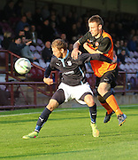 Dundee's Martin Boyle holds off Dundee United's Scott Smith - Dundee v Dundee United, SPFL Development League at Gayfield, Arbroath<br /> <br />  - &copy; David Young - www.davidyoungphoto.co.uk - email: davidyoungphoto@gmail.com