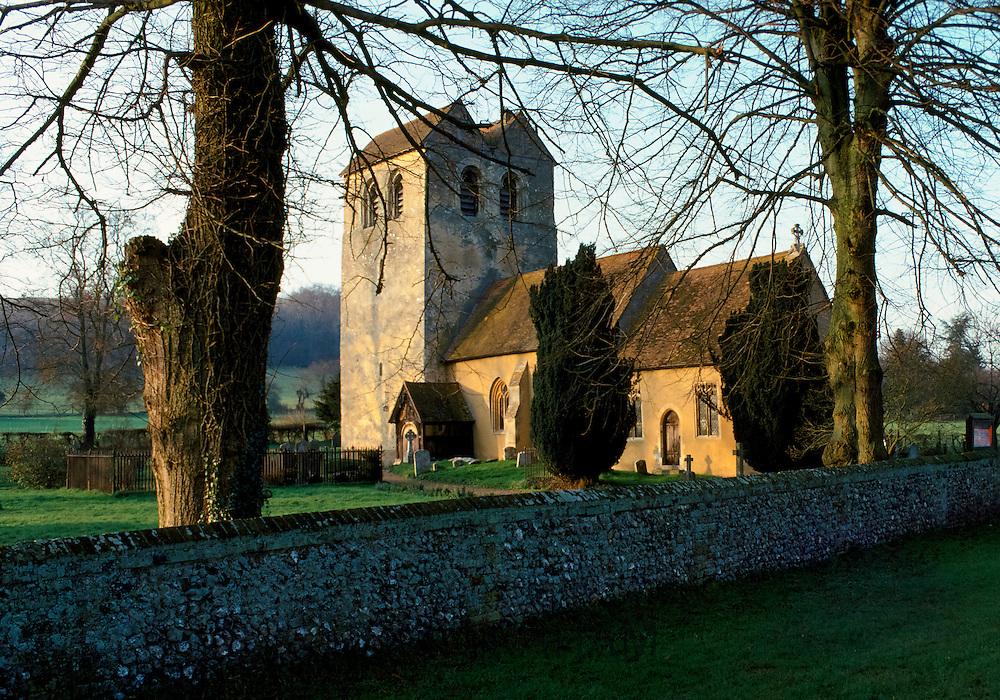 St Bartholomew  Church at Fingest in the Chilterns, Buckinghamshire, England, UK