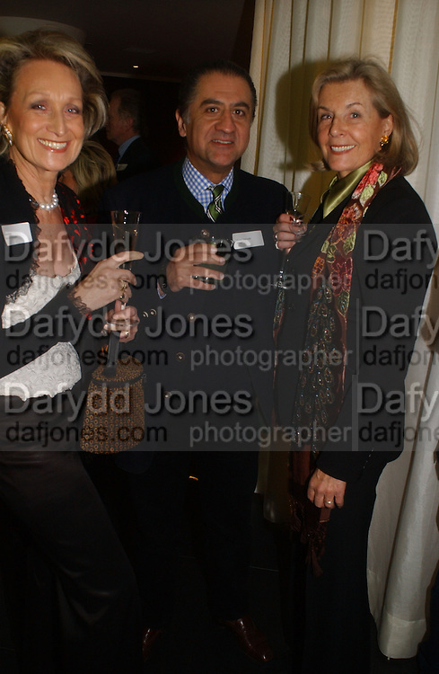 Monika Apponyi, Alidad  Mahloudji , Lavinia Dargle.Launch of the House and Garden directory of the 100 Leading Interior Designers. Design Club, 3rd Floor. South Dome, Chelsea Harbour. London. 13 March 2006. ONE TIME USE ONLY - DO NOT ARCHIVE  © Copyright Photograph by Dafydd Jones 66 Stockwell Park Rd. London SW9 0DA Tel 020 7733 0108 www.dafjones.com