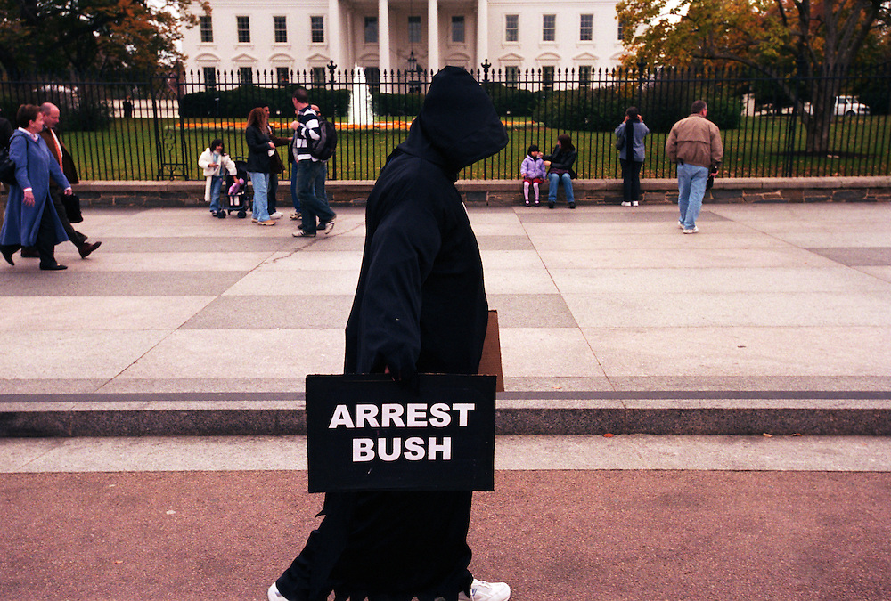 Anti war protesters in front of the White House..Washington, D.C., USA. 07/11/2006.Photo © J.B. Russell