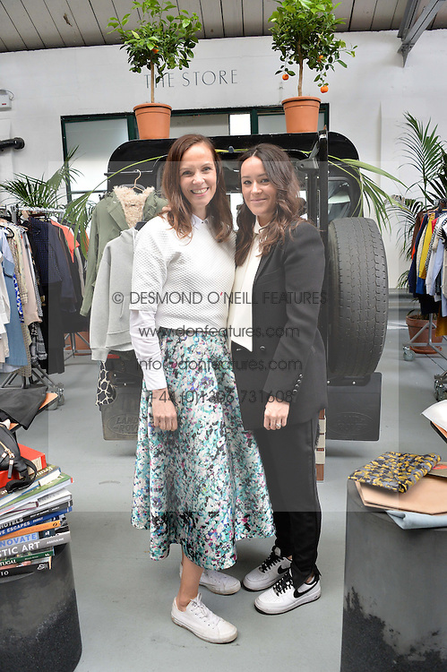 Left to right, BRITA FERNANDEZ-SCHMIDT and ALEX EAGLE at #SheInspiresMe Car Boot Sale in Aid of Women for Women International held at the Brewer Street Carpark, Soho, London on 23rd April 2016.