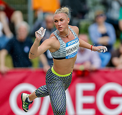 30.05.2015, Moeslestadion, Goetzis, AUT, 41. Hypo Meeting 2015, Siebenkampf der Frauen, Kugelstossen, im Bild Anastasiya Mokhnyuk (UKR) // Anastasiya Mokhnyuk of Ukraine during the 41. Hypo Meeting Goetzis 2013, Women' s Heptathlon, Shot put, at the Moeslestadion, Goetzis, Austria on 2015/05/30. EXPA Pictures © 2015, PhotoCredit: EXPA/ Peter Rinderer