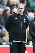 Leeds United Manager Marcelo Bielsa during the EFL Sky Bet Championship match between Wigan Athletic and Leeds United at the DW Stadium, Wigan, England on 4 November 2018.