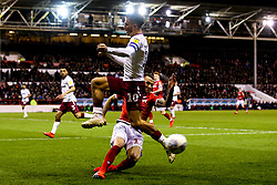 Jack Grealish of Aston Villa is tackled by Alexander Milosevic of Nottingham Forest - Mandatory by-line: Robbie Stephenson/JMP - 13/03/2019 - FOOTBALL - The City Ground - Nottingham, England - Nottingham Forest v Aston Villa - Sky Bet Championship
