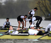 Putney, GREAT BRITAIN,   Left Olivier MOORE shakes hand with William ENGLAND, after winning the  Charles Cole standing. 2008 Boat Race,  Oxford vs Cambridge raced over the 'Championship Course' Putney to Mortlake, on the River Thames, Sat 29.03.2008 [Mandatory Credit, Peter Spurrier / Intersport-images Varsity Boat Race, Rowing Course: River Thames, Championship course, Putney to Mortlake 4.25 Miles,