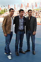 20090606: LISBON, PORTUGAL - Luis Figo Sagres Street Football - Luis Figo Sagres Street Football - Luis Figo Team vs Rui Costa Team. In picture: Pauleta, Luis Figo and Rui Costa. PHOTO: Alvaro Isidoro/CITYFILES