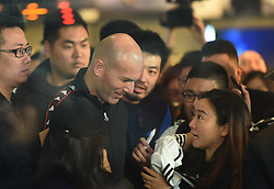 November 28, 2018 - Hangzhou, Hangzhou, China - Hangzhou, CHINA-Soccer legend Zinedine Zidane shows at a promotional event of a sports brand in Hangzhou, east China's Zhejiang Province. (Credit Image: © SIPA Asia via ZUMA Wire)