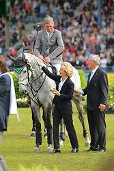Beerbaum, Ludger;<br /> Leyen, Ursula von der, Chiara<br /> Aachen - CHIO<br /> Großer Preis<br /> © www.sportfotos-lafrentz.de/ Stefan Lafrentz