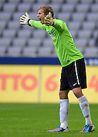 Fussball 2. Bundesliga:  Saison   2012/2013,    4. Spieltag  TSV 1860 Muenchen - MSV Duisburg    31.08.2012 Torwart Felix Wiedwald (MSV Duisburg)