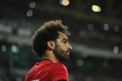 November 16, 2018 - Alexandria, Egypt - Egypts Mohamed Salah celebrates his goal during the Africa Cup of Nations qualifier match between Egypt and Tunis at Borg Al-Arab Stadium, in Alexandria, Egypt, on November 16, 2018.  Egypts beat tunis 3-2. (Credit Image: © Ahmed Awaad/NurPhoto via ZUMA Press)