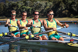 Australian Rowing Olympic Trials, March 2012, Sydney International Rowing Centre - Current World Champions - Anthony Edwards, Sam Beltz, Ben Cureton and Todd Skipworth in the Mens Lightweight Four