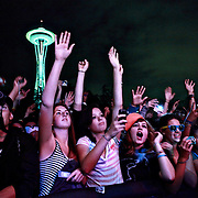 Crowd as LMFAO performs on day 2 of Bumbershoot on September 5th, 2010 at Seattle Center in Seattle, Washington