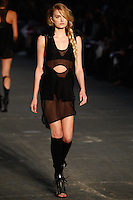 Lily Donaldson walks the runway wearing Alexander Wang Spring 2010 collection during Mercedes-Benz Fashion Week in New York, NY on September 11, 2009