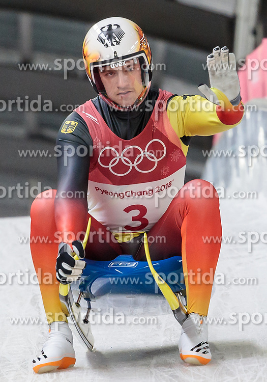 11.02.2018, Olympic Sliding Centre, Pyeongchang, KOR, PyeongChang 2018, Rodeln, Herren, 3. Lauf, im Bild Johannes Ludwig (GER) // Johannes Ludwig of Germany during the Men's Luge Singles Run 3 competition at the Olympic Sliding Centre in Pyeongchang, South Korea on 2018/02/11. EXPA Pictures © 2018, PhotoCredit: EXPA/ Johann Groder