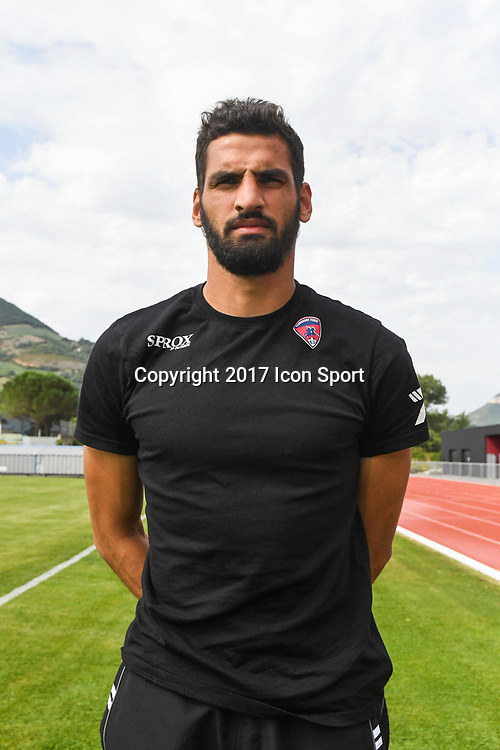 Mehdi Jeannin of Clermont during the friendly match between Montpellier Herault and Clermont foot on July 19, 2017 in Millau, France. (Photo by Philippe Le Brech/Icon Sport)