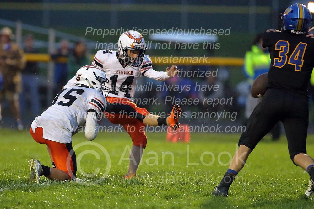 7 September 2018: Fisher Bunnies at Tri Valley Vikings football, Downs Illinois<br /> <br /> #bestlookmagazine #alphoto513 #IHSA #IHSAFootball  #HOIConference  #ikingsTV3  #FisherBunnies