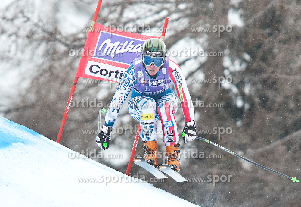 20.01.2011, Tofana, Cortina d Ampezzo, ITA, FIS World Cup Ski Alpin, Lady, Cortina, Abfahrt 2. Training, im Bild Stacey Cook (USA, #27) // Stacey Cook (USA) during FIS Ski Worldcup ladies downhill second training at pista Tofana in Cortina d Ampezzo, Italy on 20/1/2011. EXPA Pictures © 2011, PhotoCredit: EXPA/ J. Groder