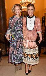 Left to right, Lara Cazalet and Emilia Fox at the Royal Academy of Arts Summer Exhibition Preview Party 2017, Burlington House, London England. 7 June 2017.