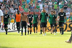 19.08.2012, Preußenstadion, Muenster, GER, DFB Pokal, SC Preussen Muenster vs SV Werder Bremen, 1. Runde, im Bild der SV Werder Bremen unzufrieden/ enttäuscht/ enttaeuscht/ niedergeschlagen // during German DFP Pokal 1st round match between SC Preussen Muenster and SV Werder Bremen at the Preußenstadion, Muenster, Germany on 2012/08/19. EXPA Pictures © 2012, PhotoCredit: EXPA/ Eibner/ Titgemeyer..***** ATTENTION - OUT OF GER *****