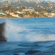 The rising waters of the incoming tide at the Laguna Beach Tide pools, just off the main beach.
