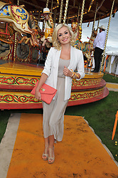 KATHERINE JENKINS at the 2012 Veuve Clicquot Gold Cup Final at Cowdray Park, Midhurst, West Sussex on 15th July 2012.