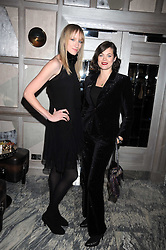 Left to right, JADE PARFIT and JASMINE GUINNESS at a party for Yves Saint Laurent's Creative Director Stefano Pilati given by Colin McDowell held at The Connaught Bar, The Connaught, Mount Street, London on 29th October 2008.