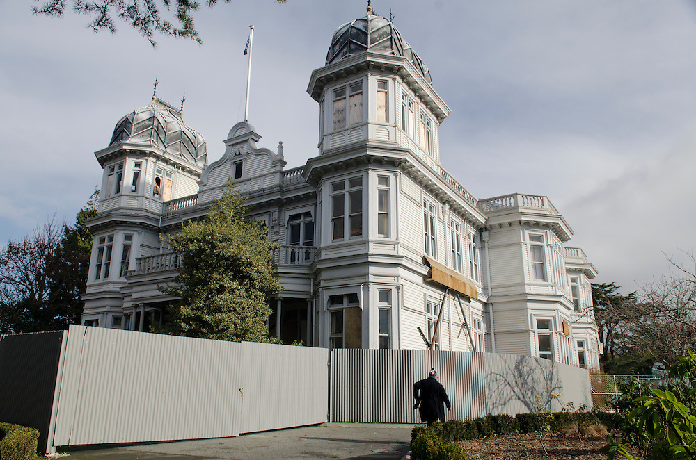 Controversy has arisen after the decision to demolish McLean's Mansion, a 113 year old Kauri Category 1 Historic building which was damaged in the earthquakes, Christchurch, New Zealand, Friday July 19, 2013. Credit:  SNPA / David Alexander