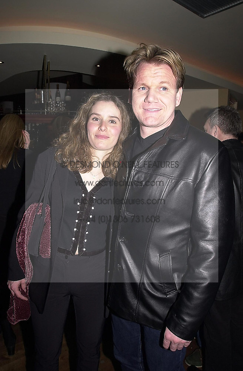 MR & MRS GORDON RAMSAY, he is the leading chef, <br /> at a party in London on 28th March 2000.OCI 4<br /> © Desmond O'Neill Features:- 020 8971 9600<br />    10 Victoria Mews, London.  SW18 3PY<br /> photos@donfeatures.com   www.donfeatures.com <br /> MINIMUM REPRODUCTION FEE AS AGREED.<br /> PHOTOGRAPH BY DOMINIC O'NEILL
