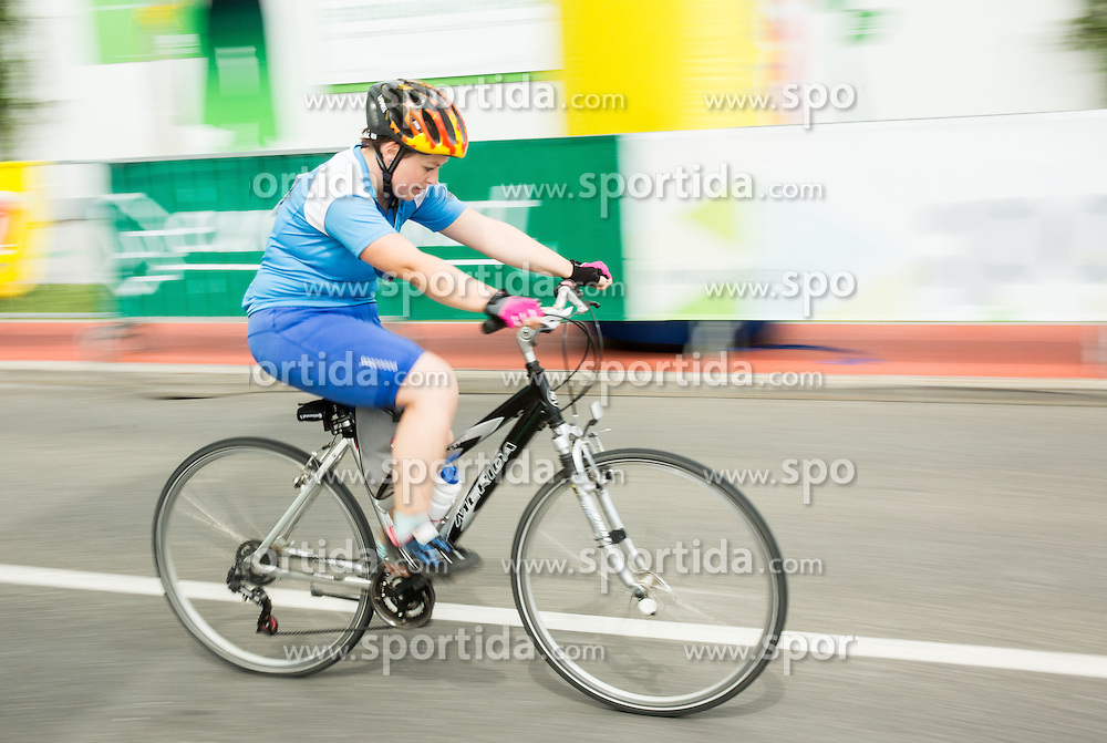 Rider at finish line of 35th Marathon Franja BTC City 2016, on June 11, 2016 in BTC, Ljubljana, Slovenia. Photo by Vid Ponikvar / Sportida