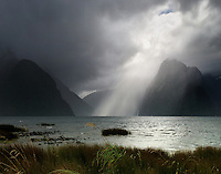 Richard Furhoff 100101_NewZealand_DSC4711.tif .Storm Light, Milford Sound, Fiordlands National Park, New Zealand....