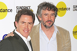 © Licensed to London News Pictures. 25/04/2014, UK. Rob Brydon & Steve Coogan, Sundance London: The Trip To Italy - Photocall & Official Screening, Cineworld Greenwich, The 02, London UK, 25 April 2014. Photo credit : Brett D. Cove/Piqtured/LNP