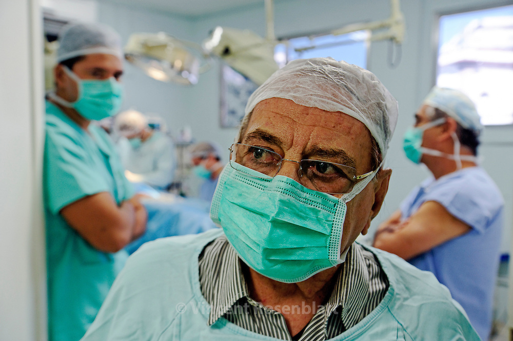 Pr. Ivo Pitanguy commands the Plastic Surgery Dpt. of the PUC university located at the Santa Casa de Misericordia, a charity hospital, since 1960. Half of the interns are Brazilians, the other are from all over the World. Low middle class and poor people can receive restorative & plastic surgery for only administrative coast.