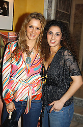 Left to right, fashion designers VANYA STROK and NARGESS GHARANI at the launch of MAC's High Tea collection with leading British designers held at The Berkeley Hotel, London on 17th January 2005.  MAC has collabroated with The Berkeley's Pret-a-Portea, which adds a creative twist to th classic elements of the English afternoon tea with cakes and pastries inspired by fashion designs.<br /><br />NON EXCLUSIVE - WORLD RIGHTS