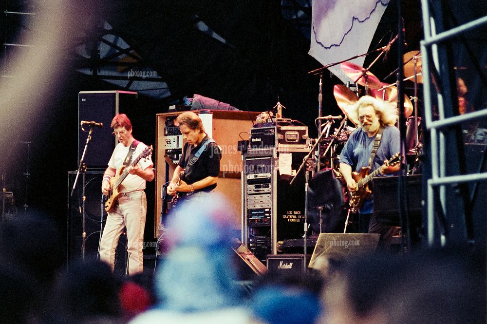 The Grateful Dead at RFK Stadium 14 June 1991. Phil, Bobby and Jerry in View