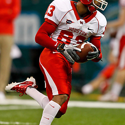 November 10, 2011; New Orleans, LA, USA;  Houston Cougars wide receiver Patrick Edwards (83) against the Tulane Green Wave at the Mercedes-Benz Superdome.  Mandatory Credit: Derick E. Hingle-US PRESSWIRE