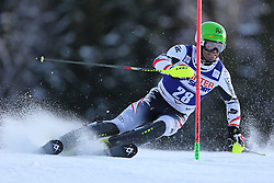 06.01.2014, Stelvio, Bormio, ITA, FIS Weltcup Ski Alpin, Bormio, Slalom, Herren, im Bild Wolfgang Hoerl // Wolfgang Hoerl  in action during mens Slalom of the Bormio FIS Ski World Cup at the Stelvio in Bormio, Italy on 2014/01/06. EXPA Pictures © 2014, PhotoCredit: EXPA/ Sammy Minkoff<br /> <br /> *****ATTENTION - OUT of GER*****