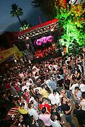 The crowd and stage, Ibiza Rocks, Bar M, San Antonio, Ibiza, July 2006