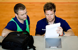 Bostjan Brulec and Primoz Pori at practice of Slovenian Handball Women National Team, on June 3, 2009, in Arena Kodeljevo, Ljubljana, Slovenia. (Photo by Vid Ponikvar / Sportida)