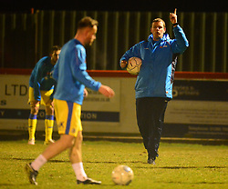 STOCKPORT COUNTY WARMING UP BEFORE THE GAME, Brackley Town v Stockport County, Buildbase FA Trophy 4th Round Replay, Tuesday 6th March 2018 Score 2-1 <br /> Photo:Mike Capps