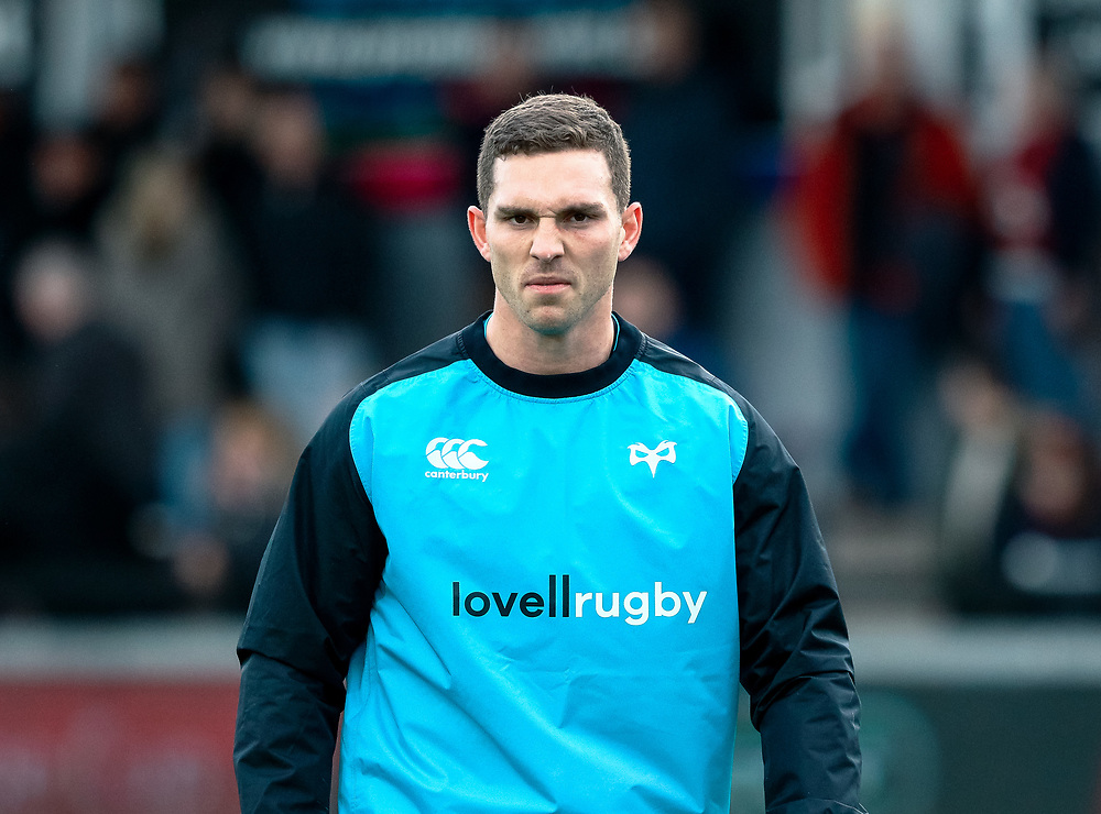 George North of Ospreys during the pre match warm up<br /> <br /> Photographer Simon King/Replay Images<br /> <br /> Guinness PRO14 Round 12 - Dragons v Ospreys - Sunday 30th December 2018 - Rodney Parade - Newport<br /> <br /> World Copyright © Replay Images . All rights reserved. info@replayimages.co.uk - http://replayimages.co.uk