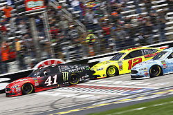 April 8, 2018 - Ft. Worth, Texas, United States of America - April 08, 2018 - Ft. Worth, Texas, USA: Kurt Busch (41) battles for position during the O'Reilly Auto Parts 500 at Texas Motor Speedway in Ft. Worth, Texas. (Credit Image: © Chris Owens Asp Inc/ASP via ZUMA Wire)