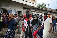 Historiantes participan en el festival del maiz  Domingo Agosto 14, 2011 en Sesori, San Miguel, El Salvador durante el festival del Maiz. Los Salvadorenos celebran esta fiesta por las buenas cosechas del principal producto de la dieta alimenticia. Photo: Ricardo Carrillo/Imagenes Libres.