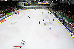 View on the ice rink during ice-hockey match between HDD Tilia Olimpija and EHC Liwest Black Wings Linz at second match in Semifinal  of EBEL league, on March 8, 2012 at Hala Tivoli, Ljubljana, Slovenia. (Photo By Matic Klansek Velej / Sportida)