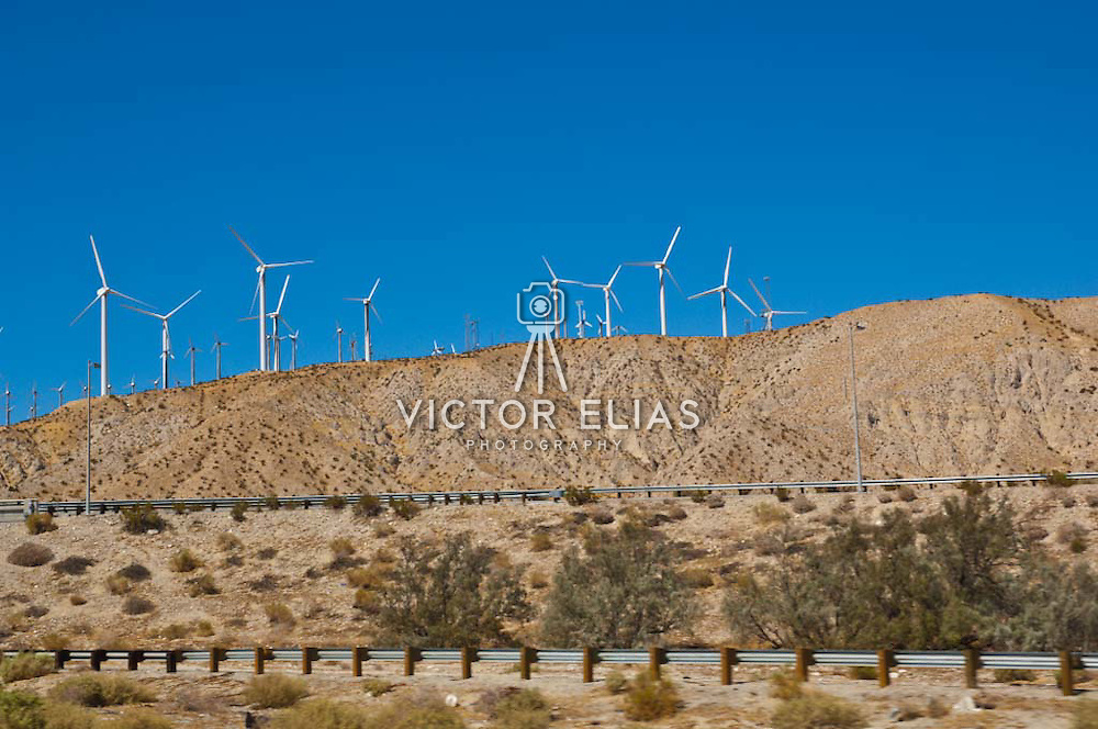 Windmills on the highway to Palm Springs. California