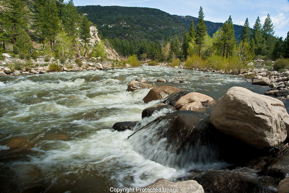 The beautiful Walker River flows into Nevada from the Eastern Sierra Nevada Mountains of California.
